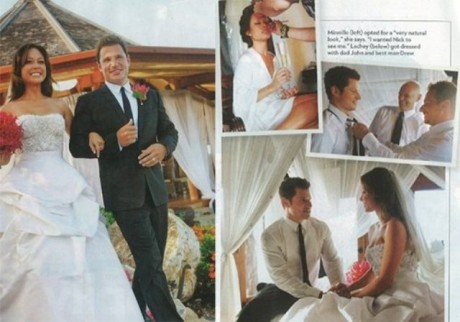 Boyfriend-girlfriend turned husband-wife: Nick Lachey and Vanessa at their wedding ceremony